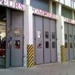Porte accordéon industriel motorisé