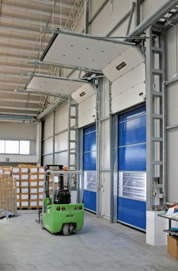 Porte sectionnelle industrielle isol e motoris e ou manuelle allsas votre sp cialiste de la - Porte de garage industrielle sectionnelle ...