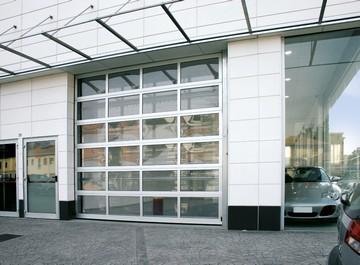 Porte sectionnelle industrielle aluminium motoris e et vitr e allsas votre sp cialiste de - Porte sectionnelle aluminium ...